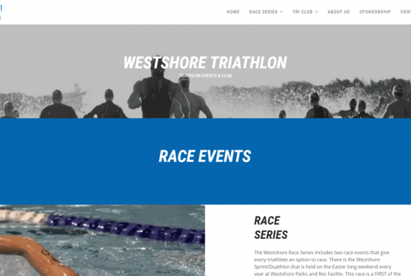 Westshore Triathlon WordPress Website